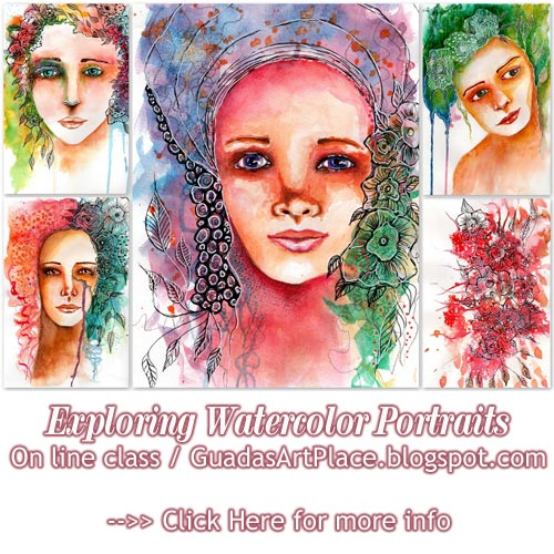 Exploring Watercolor Portraits with Guada. On line class