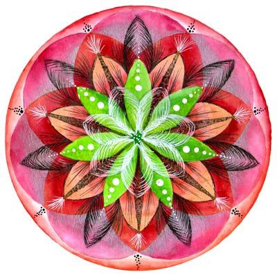 Mandala Flor Plateada de Guadalupe Brizuela Cabal